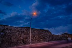 Street Light In The Evening. Royalty Free Stock Image