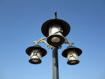 Street light lamppost. With  blue sky in background Royalty Free Stock Image
