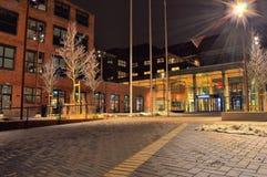 Street Light Near Building Stock Image