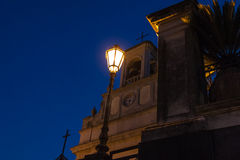 Street light at night Stock Images
