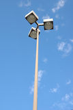 Street Light On The Parking Lo. T unsder the blue sky Royalty Free Stock Image