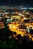 Street light in pattaya city Stock Photo