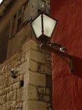 Street light and pigeons. Makarsk, Croatia Royalty Free Stock Photography