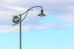 Street light pole with beautiful nature scene of sky backgroun Stock Images