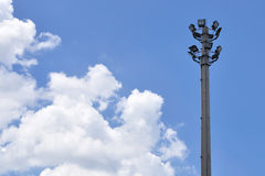 Street light pole with the blue sky. Stock Photography