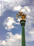 Street light pole with blue sky. Stock Photos