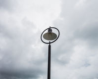 Street light poles along the beach Royalty Free Stock Photography