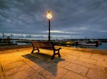 Street light on Poole quay Stock Photo