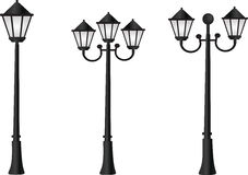 Street light. Realistic street light vector icon royalty free illustration