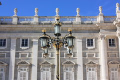 Street light at the Royal Palace. Royalty Free Stock Photography