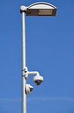 Street light and security camera Royalty Free Stock Photo