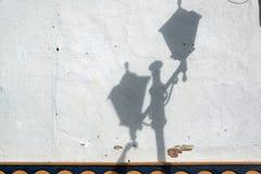 Street Light Shadow Stock Image