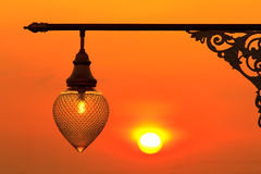 Street light at sunset Royalty Free Stock Image
