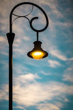 Street light at sunset in Budapest, Europe. Stock Image