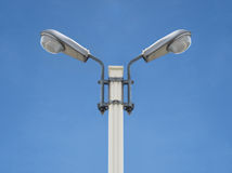 Street light symmetry front view Royalty Free Stock Photo