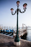 Street light in Venice Royalty Free Stock Images