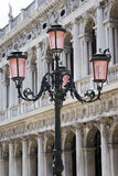 Street light in Venice Royalty Free Stock Photography