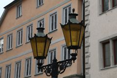 Street light. Vintage street lamp close up.  stock images