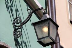 Street light. Vintage street lamp close-up vector illustration