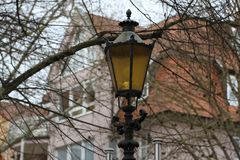 Street light. Vintage street lamp close up.  royalty free stock images