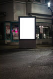 Street Lightbox White Blank Corner Clipping Path Advertisement S Royalty Free Stock Images