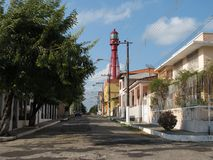 Street Lighthouse Stock Photography