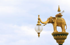 Street lighting art, lamp hanger, Thai abstract art of angel Royalty Free Stock Photography