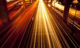 Street lighting at night Stock Photography