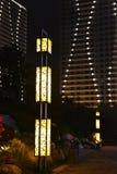 Street lighting at night royalty free stock photo