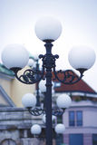 Street lighting. An old street lamppost . Royalty Free Stock Image
