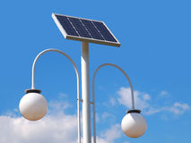 Street lighting pole with photovoltaic panel Royalty Free Stock Photography