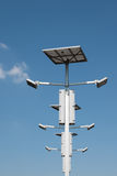 Street lighting with solar panels Stock Photography