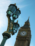 Street lighting at the tower Big Ben, London Stock Images
