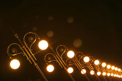 Street lights. An image witht open street lights in row Stock Images