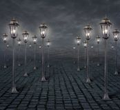 Street lights background 2 vector illustration