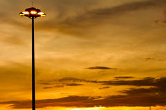 Street lights in a cloudy sky background Stock Photography
