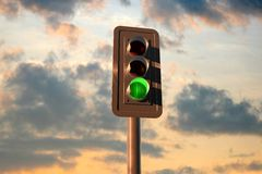 Street lights. 3d rendered objects on photography Royalty Free Stock Photography