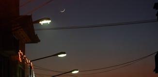 street lights on dawn Stock Photo