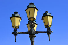 Street lights in Faro old town Stock Images