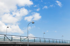 Street lights on a highway Royalty Free Stock Photography