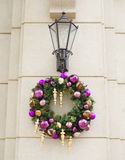 Street lights holiday decoration Royalty Free Stock Photography