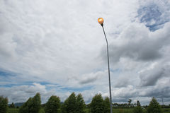Street lights ,lamp on the road For safety with blue sky background Stock Photo