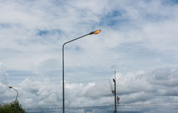 Street lights ,lamp on the road For safety with blue sky background Stock Photography
