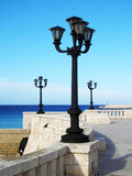 Street lights - lanterns. Shot of street lights in face of the sea - lanterns Stock Photography