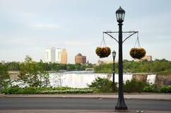 Street lights at Niagara falls Royalty Free Stock Photos