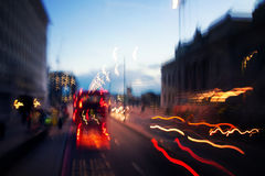 Street lights by night in London Royalty Free Stock Photos