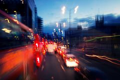 Street lights by night in London Royalty Free Stock Photo