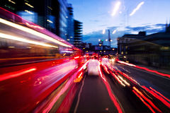 Street lights by night in London Royalty Free Stock Image