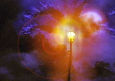 Street Lights in the night royalty free stock photo