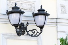Street lights in the old style royalty free stock photos